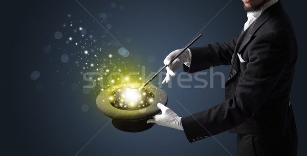 白 手 真ん中 手袋 神秘的な ストックフォト © ra2studio