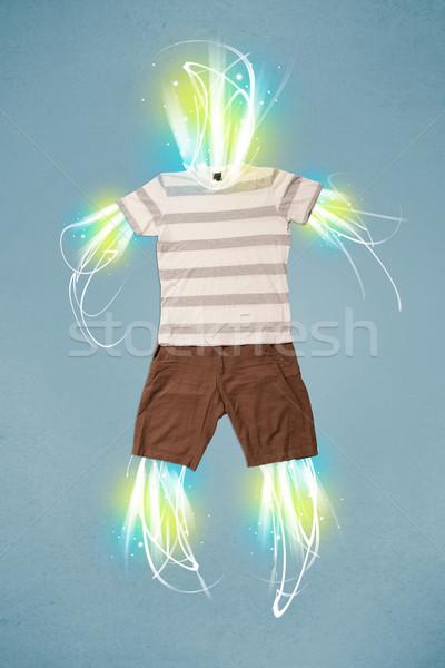 Stockfoto: Energie · balk · toevallig · kleding · licht · business