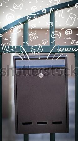 Posta kutusu harfler dışarı sokak kâğıt kitap Stok fotoğraf © ra2studio