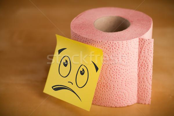 Nota carta igienica rotolare carta Foto d'archivio © ra2studio