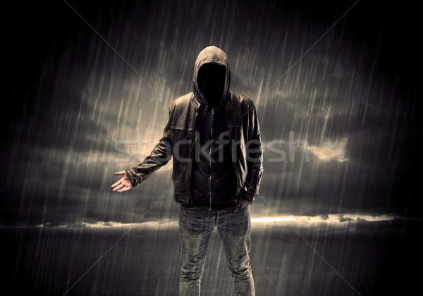匿名の テロリスト 1泊 泥棒 認識できない 立って ストックフォト © ra2studio