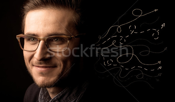 Stock photo: A salesman in doubt
