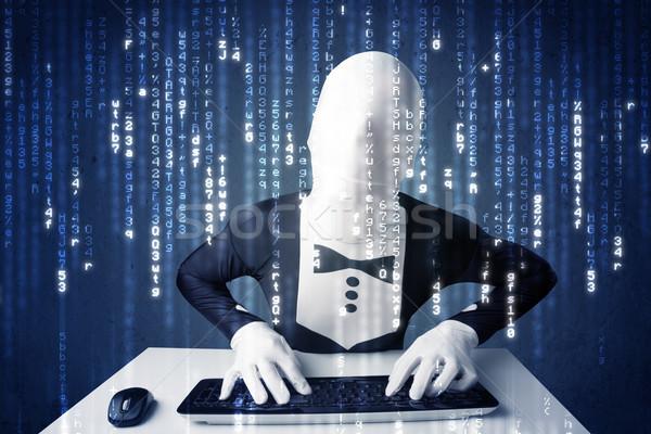ハッカー 情報 未来的な ネットワーク 技術 白 ストックフォト © ra2studio