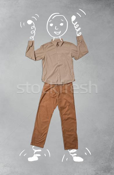 Funny przypadkowy ubrania miejskich działalności Zdjęcia stock © ra2studio