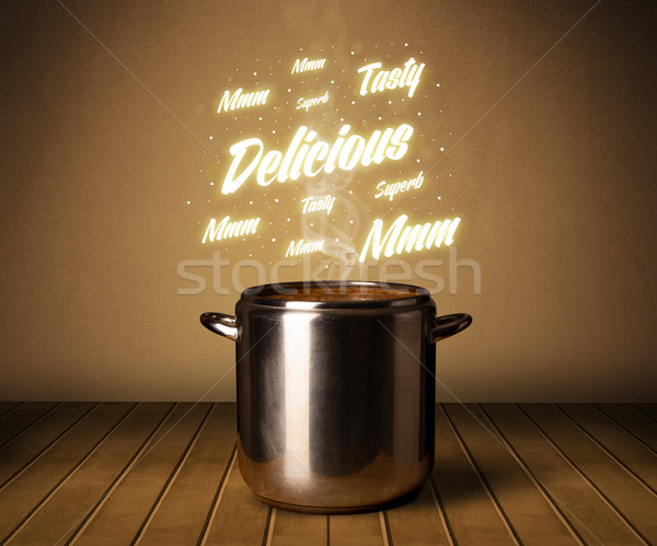 Bright comments above cooking pot Stock photo © ra2studio