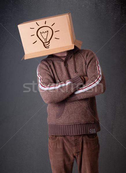 молодым человеком голову свет Постоянный Сток-фото © ra2studio