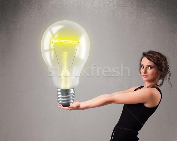 Bella signora realistico 3D Foto d'archivio © ra2studio
