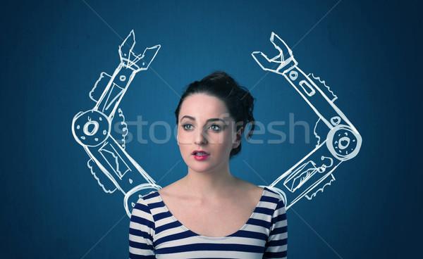 Robotic arms concept Stock photo © ra2studio