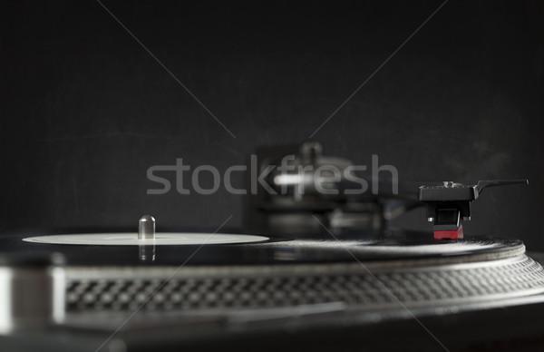 Turntable jouer vinyle aiguille record Photo stock © ra2studio