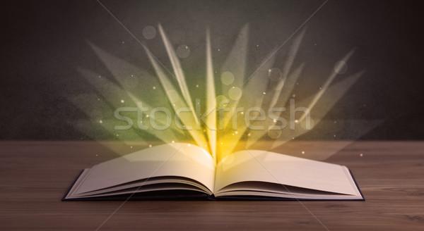 黄色 ライト 図書 開いた本 デザイン 背景 ストックフォト © ra2studio