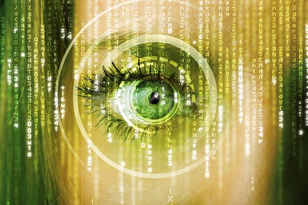 ストックフォト: 現代 · 女性 · 行列 · 眼 · 医療 · 技術
