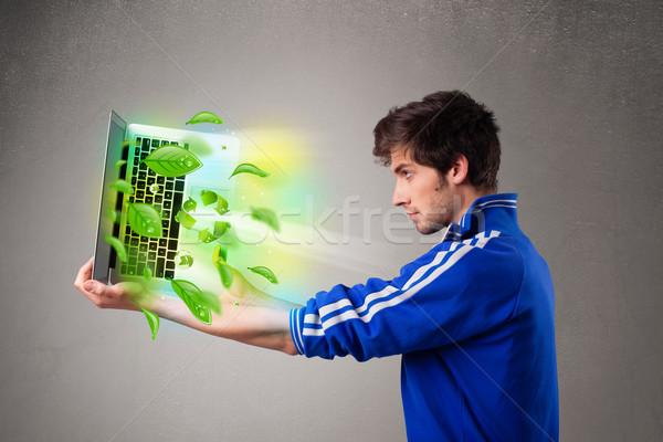 Casual portátil reciclar ambiental Foto stock © ra2studio