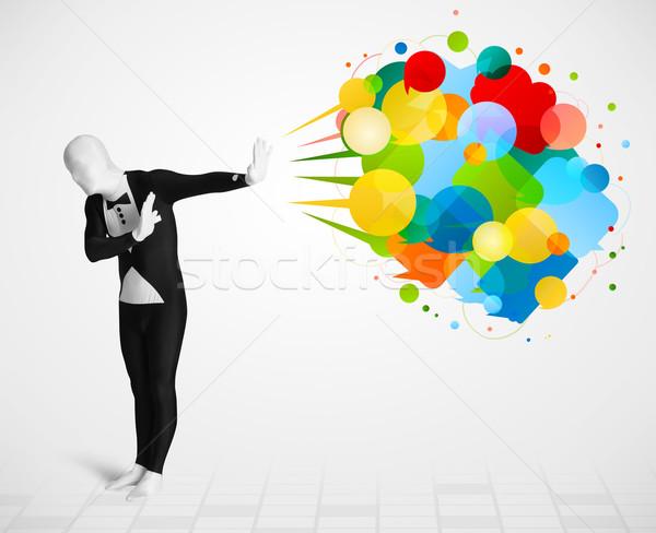 Сток-фото: странно · парень · глядя · красочный · смешные