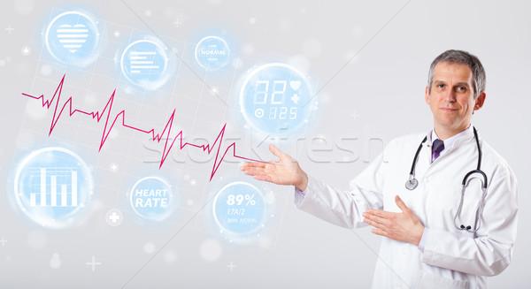 Medico moderno battito del cuore grafica clinica medici Foto d'archivio © ra2studio
