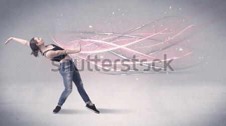Grappig lijnen mad Stockfoto © ra2studio