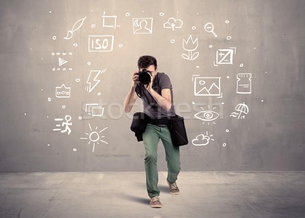 Fotograf nauki kamery amator hobby zawodowych Zdjęcia stock © ra2studio
