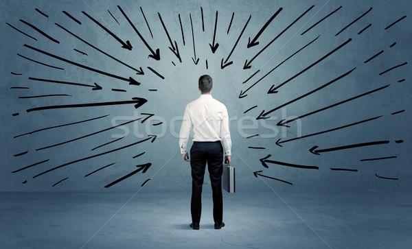 立って ビジネス 男性 混乱 ビジネスマン ストックフォト © ra2studio