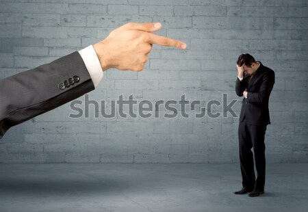 Unprofessional salesman being fired Stock photo © ra2studio