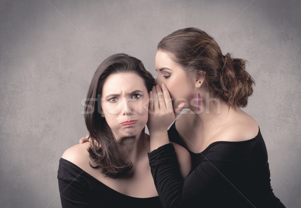 Kız gizli işler kız arkadaş iki aktris Stok fotoğraf © ra2studio