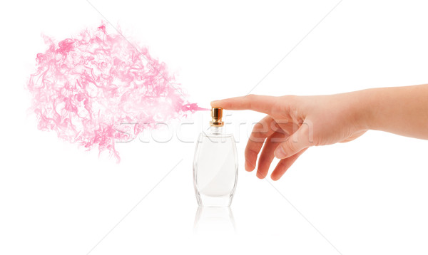 woman hands spraying perfume Stock photo © ra2studio