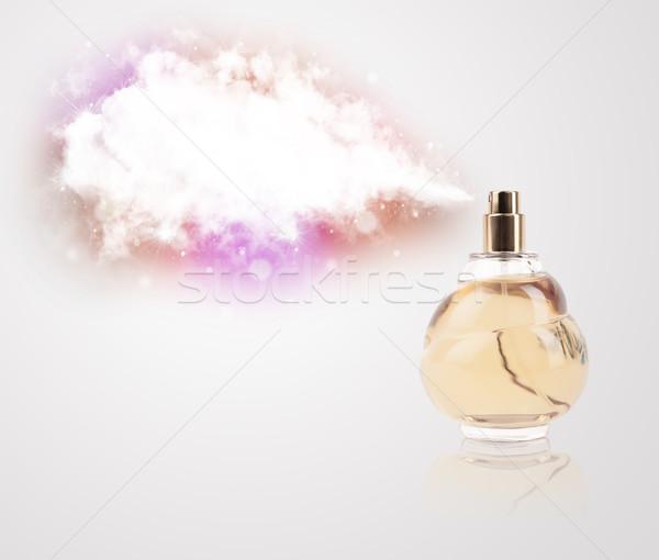 Zdjęcia stock: Piękna · butelki · kolorowy · Chmura · perfum · kopia · przestrzeń