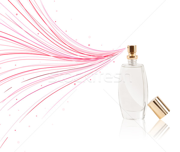 Perfume bottle spraying colorful lines Stock photo © ra2studio