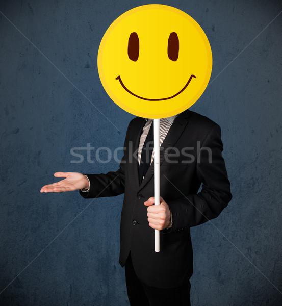 商業照片: 商人 · 笑臉 · 表情 · 黃色 · 頭