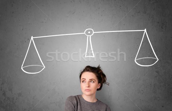 Młoda kobieta decyzja dość młodych pani Zdjęcia stock © ra2studio