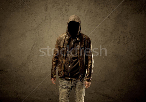 Buio sospettoso maturo maschio urbana Foto d'archivio © ra2studio
