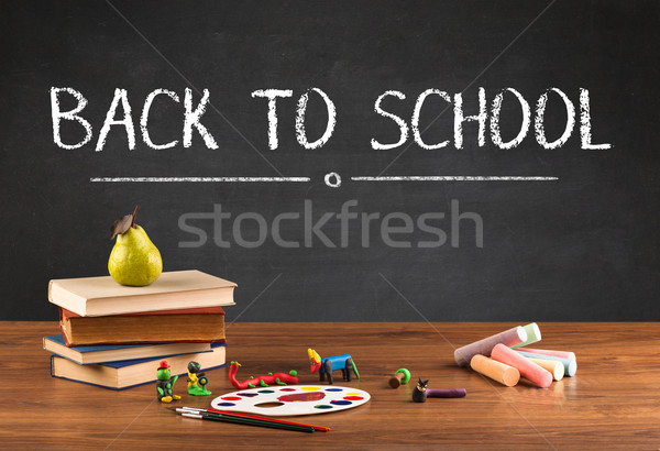 Big back to school writing concept Stock photo © ra2studio