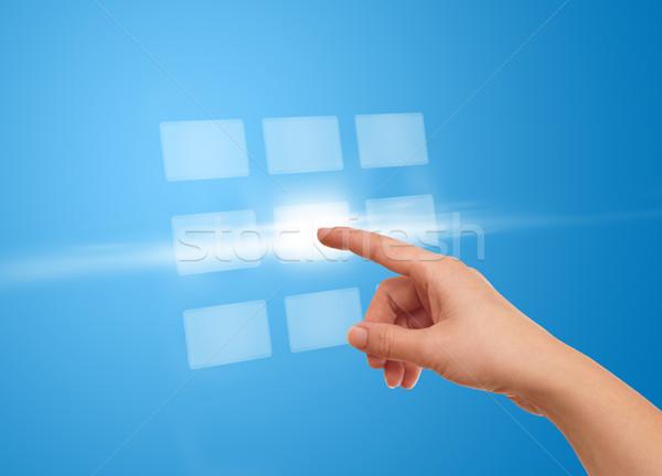 Strony kilka przycisk futurystyczny Zdjęcia stock © ra2studio