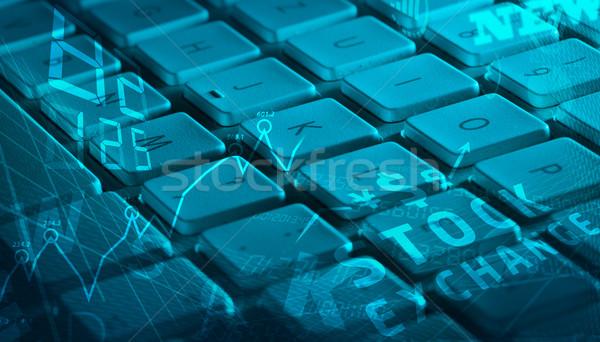 ストックフォト: キーボード · ビジネス · アイコン · コンピュータのキーボード · 管理