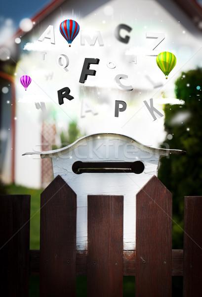Post boîte coloré lettres résumé papier Photo stock © ra2studio