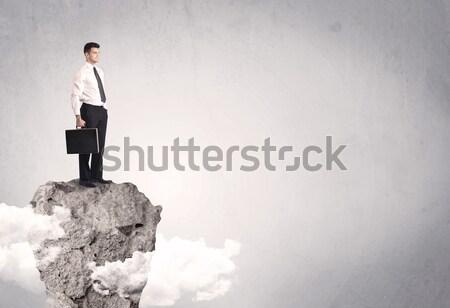 ベスト セールスマン 崖 スペース 幸せ 成功した ストックフォト © ra2studio