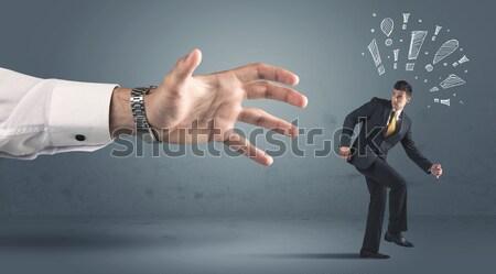 далеко большой стороны рисованной человека Сток-фото © ra2studio