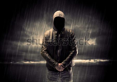 Hatóanyag sötét űr karok rossz szoba Stock fotó © ra2studio