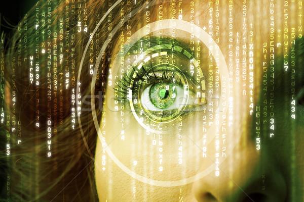 現代 女性 行列 眼 抽象的な 技術 ストックフォト © ra2studio