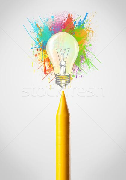 Mum boya renkli boya sıçraması ampul Stok fotoğraf © ra2studio