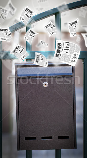 пост окна ежедневно газет Flying из Сток-фото © ra2studio