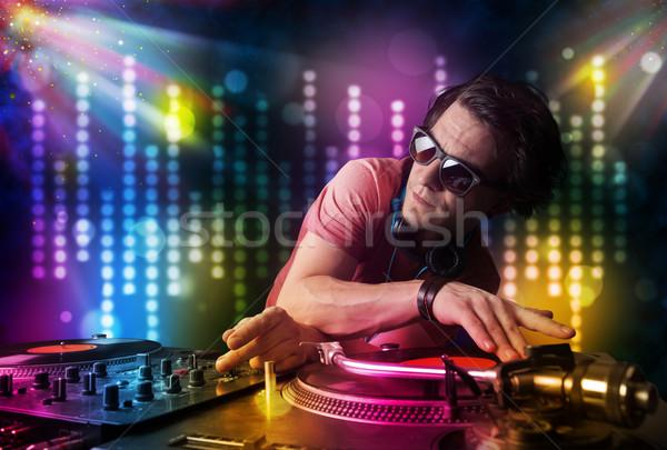 Giocare discoteca luce show giovani party Foto d'archivio © ra2studio