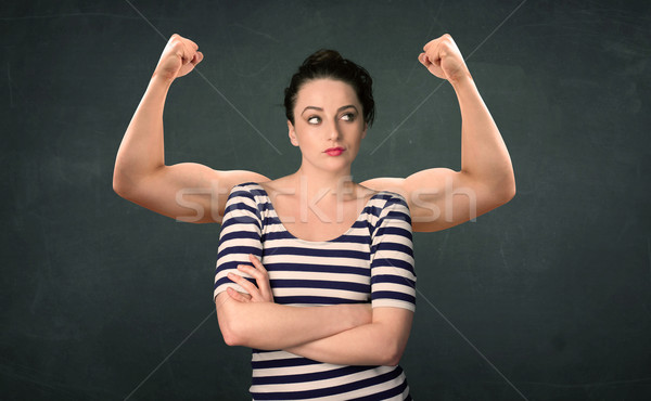 strong and muscled arms concept Stock photo © ra2studio