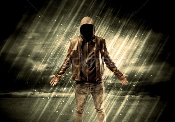 опасный уголовный Постоянный сигарету дождь Сток-фото © ra2studio
