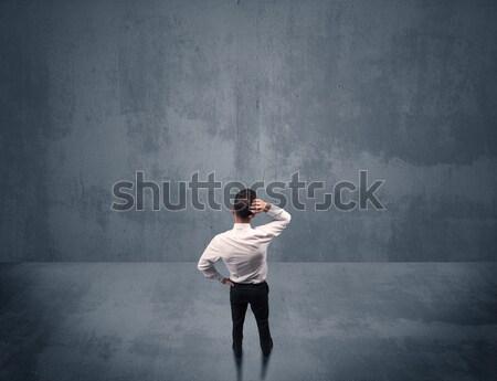 Affaires haltérophilie ombre jeunes élégante vendeur Photo stock © ra2studio