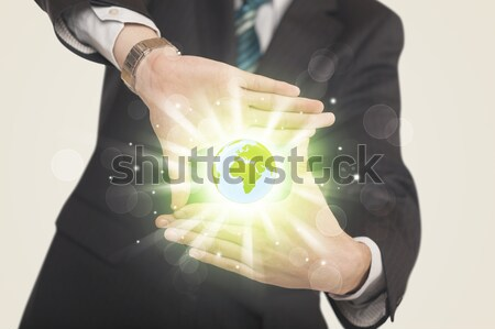 Hands creating a form with dollar sign Stock photo © ra2studio