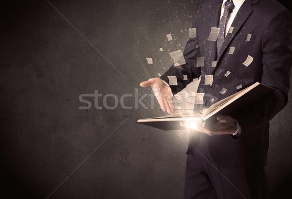 Man reading book. Stock photo © ra2studio