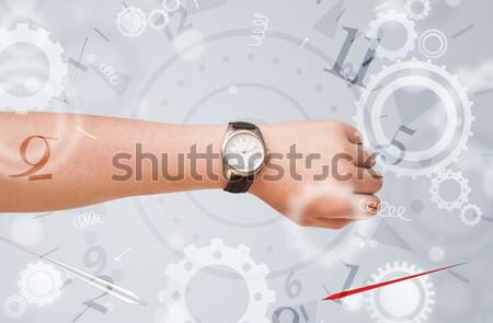 手 時計 番号 サイド 外に ビジネス ストックフォト © ra2studio