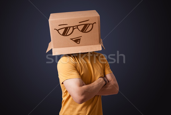 Jonge man hoofd permanente Stockfoto © ra2studio