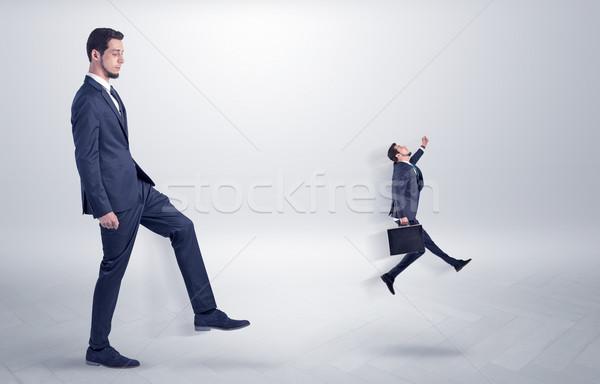 небольшой человека Boss белый обои молодым человеком Сток-фото © ra2studio