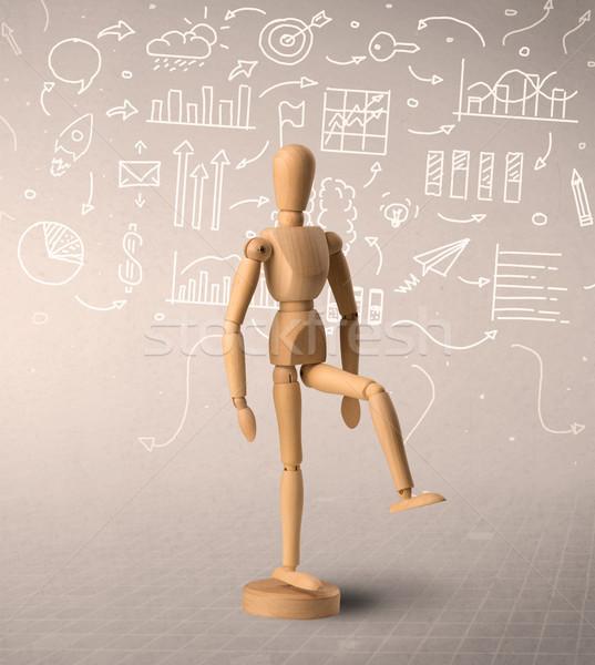 Stock photo: Wooden mannequin concept