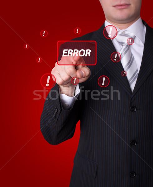Man pressing ERROR button Stock photo © ra2studio